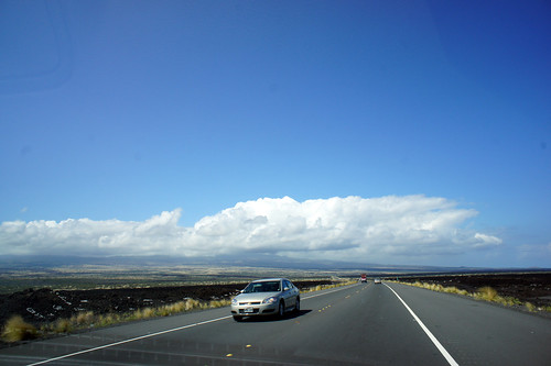 コナ空港への道