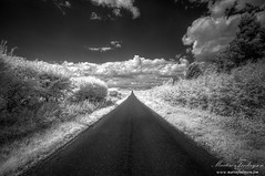 Blacktop to the Clouds (Martin_Finlayson) Tags: road ir countryside vanishingpoint nikon d70 gimp infrared straight tamron hdr cambridgeshire vp photomatix 720nm 1024mm