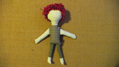 #18 Pedro - heart made doll from Mamima collection by mamima project