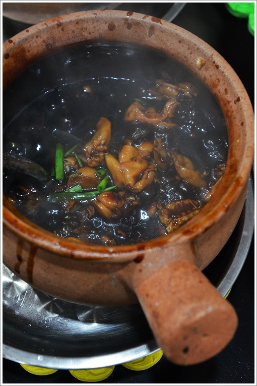 Bubbling Hot Frogs in Claypot