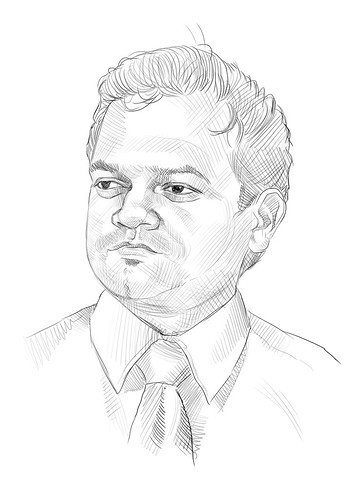 Digital portrait sketch of Capt Rajesh - 1