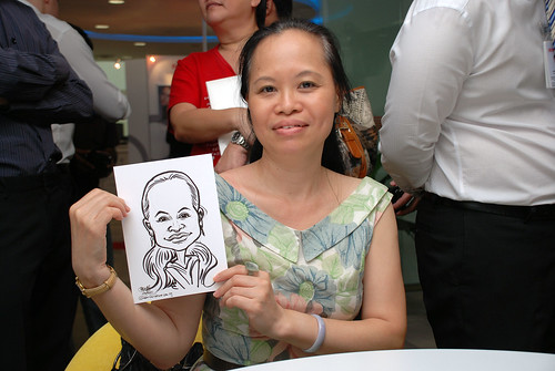 Caricature live sketching for Ricoh Roadshow - 30