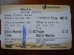 Irish rail ticket