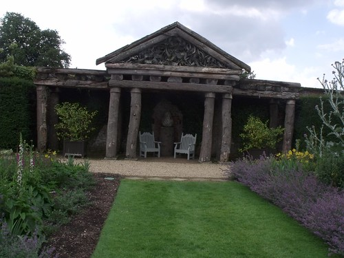 Houghton Hall - Walled Garden - Herbaceuos border - new rustic temple
