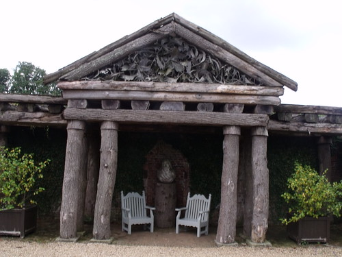Houghton Hall - Walled Garden - Italian Garden - new rustic temple