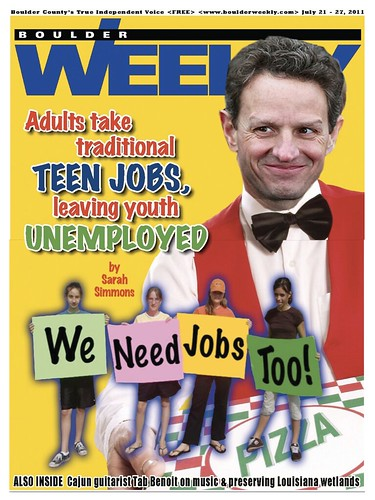 ADULTS TAKE TEEN JOBS by Colonel Flick