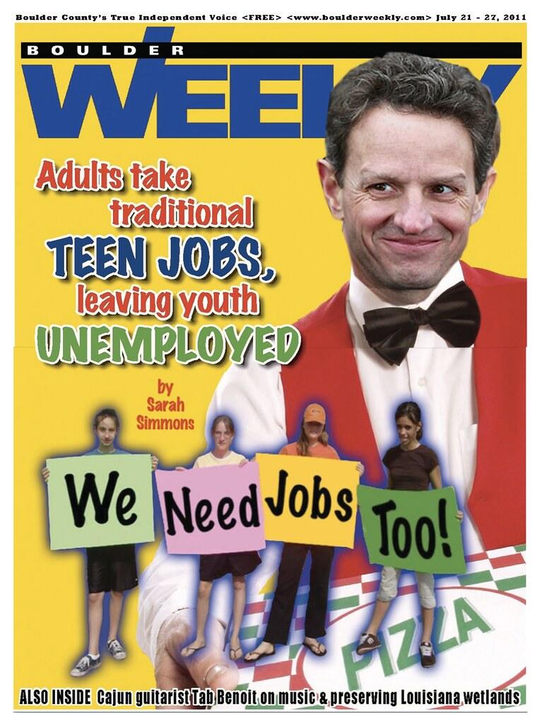 ADULTS TAKE TEEN JOBS