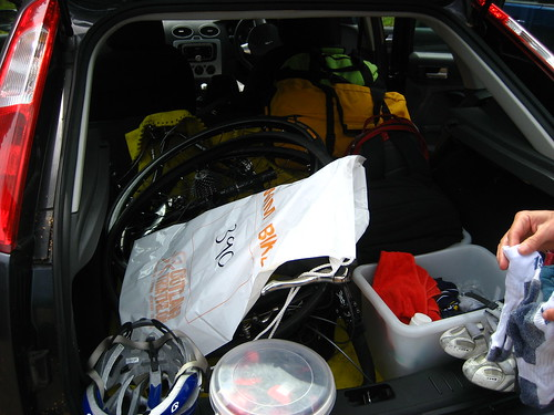 The car boot - full of kit
