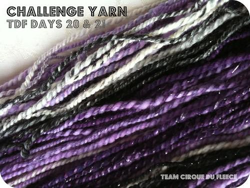 tdf challenge yarn (days 20 & 21) // self striping 2-ply