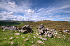 Grimspound on Dartmoor (rosyrosie2009) Tags: uk england walking landscape photography rocks flickr photos explore devon moors dartmoor hdr gettyimages bronzeage rambling stonecircle westcountry westernmorningnews grimspound tonemapped warrenhouseinn flickrduel devonandcornwall d5000 rosiesphotos westernmorningview hookneytor bronzeagesettlement nikond5000 tamronspaf1024mmf3545diiildasphericalif headlandwarrenfarm rosiespooner rosyrosie2009 rosemaryspooner rosiespoonerphotography