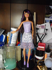 Lovely in Lilac (DLSarmywife--DLightful Designs) Tags: lace top barbie skirt lilac fashionista 16thscale playscale handmadedollclothes