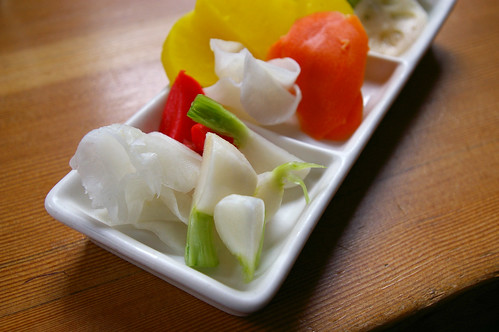 Mini pickled vegetables