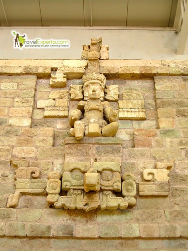 Mayan Ruins Buddha Maya Statute Copan Honduras