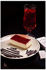 Cheese Cake (Fawaz Abdullah) Tags: cake cheese juice strawberries