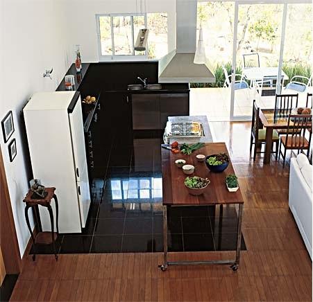 cozinha com granito preto sao gabriel