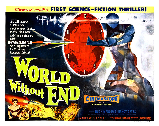 Reynold Brown - World Without End (Allied Artists, 1956) half sheet