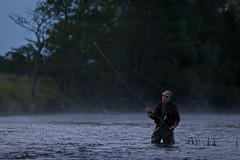 Misty cast (Denis O'Donovan) Tags: ireland sunset water river evening fly fishing fisherman flyfishing trout rise ie trim casting boyne meath
