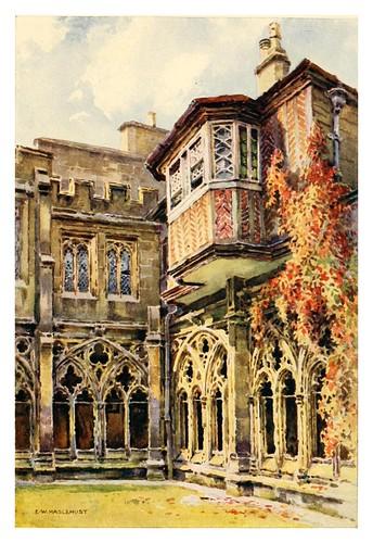 014- Balcon de Ana Bolena en el claustro de los Deanes- Windsor castle 1910- Ernest William Haslehust