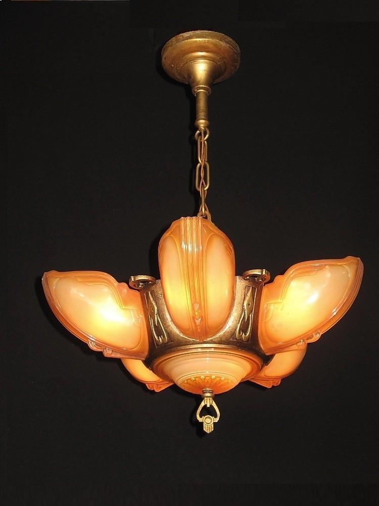 deco chandelier | Vintagelights.com