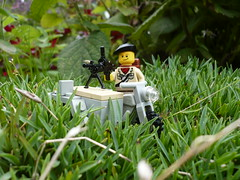 Jerry's on the run (Rebla) Tags: lego wwii ww2 british brengun brickarms bmw750cc