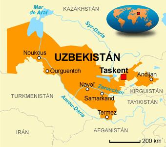 Resultado de imagen de mapa de uzbekistán