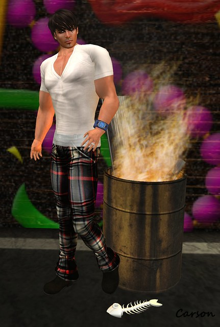 Poison Grey tartan jeans ---   INDI Designs Leighton Sheer White T-Shirt