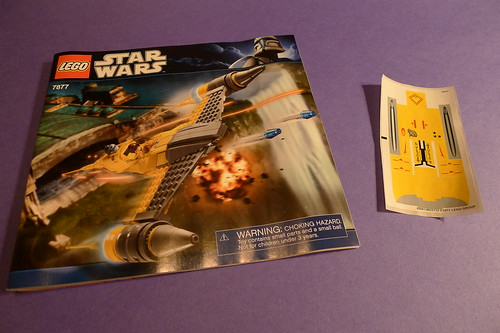 7877 Instructions and Sticker Sheet