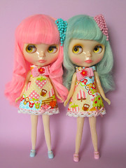 LolliPopsicle? (Helena / Funny Bunny) Tags: doll blythe custom lollipop popsicle rbl reroot funnybunny solidbackground misssallyrice icemintpopsicle phoebemaybe fbfashion