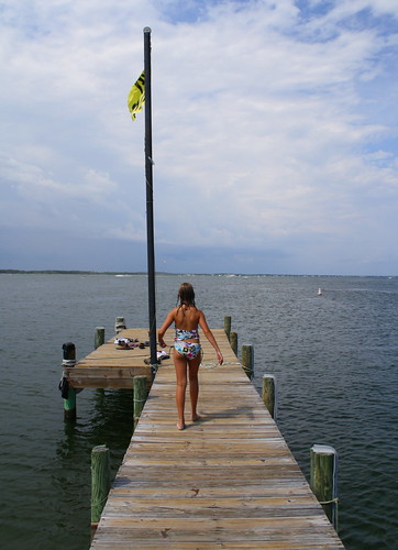 Laura on the dock