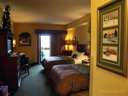 Our room. The Inn at Christmas Place. Pigeon Forge.