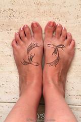 Photoshop pisces tattoo