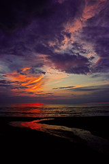 (rwoz) Tags: sunset sky color beach nature water canon photography sweden bstad flickraward5
