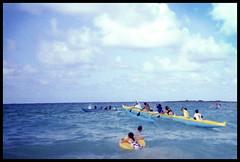 Heihei Wa'a Aloha (Justin Ornellas) Tags: ocean justin girls art film water analog 35mm hawaii lomo lca surf waves retro  hawaiian kailua kailuabay ornellas ornellaswouldgo