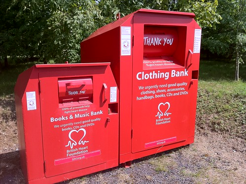 British Heart Foundation clothing bank
