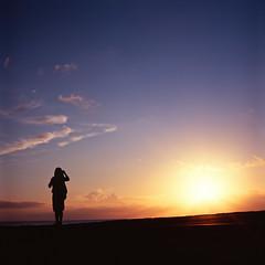 sunset (g o r t (crazily busy)) Tags: sunset beach rolleiflex velvia epson fujifilm okinawa 100f 28a zeissopton fujifilmvelvia100f epsongtx970 gtx970 rolleiflex28azeissopton