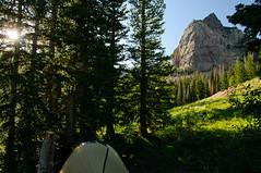 Camp beneath Sundial Peak