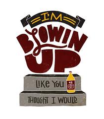Blowin Up (Jay Roeder) Tags: up typography big steps draw stoop 40oz handlettering blown smalls dailydrawing notorious biggy dailydrawings jayroeder wwwjayroedercom