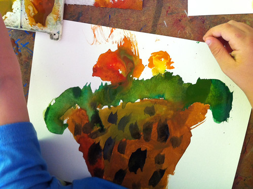August 2011: Drawing with Kids - Strawflowers by apple-pine