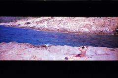 blue (Holga my Dear) Tags: panorama mare blu toycamera natura toscana vacanze boh isola panoramiccamera isoladelgiglio fujisuperia100 widepic wildnature exipired panoramicwidepic analogicait