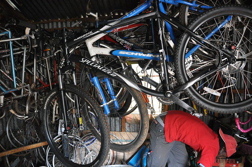 David and some of his bikes