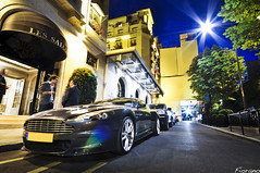Under the Stars. (Guillaume Ettori) Tags: paris night four photography grey nikon automobile photographie seasons shot martin sigma automotive v british 1020 georges supercar aston spotting 2a dbs sighting fiorano d5000 worldcars fiorano2a