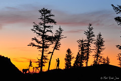 The Man and His Craft (mj.foto) Tags: camping silhouette sunrise way landscape washington unitedstates pass backpacking ingalls lakeingalls