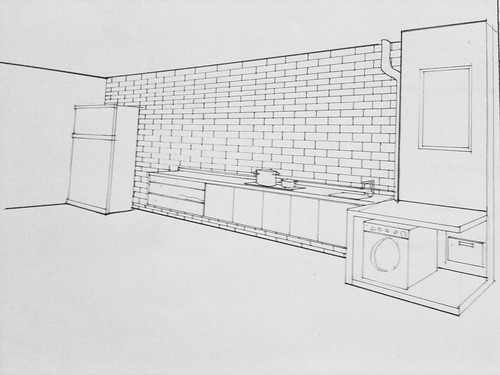 Outline drawing of Pending Kitchen by ʘ ‿ ʘ synthetic happiness Ò ‿ Ó
