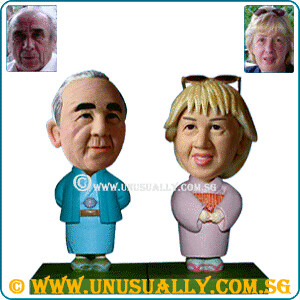 Personalized 3D Lovely Kimono Couple Figurines