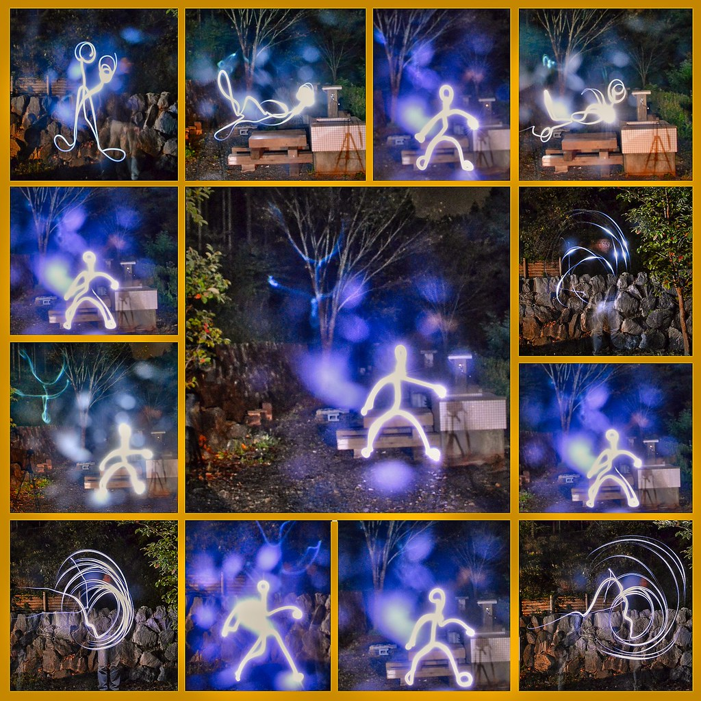 Light painting-The Making of,or the reverse light 'shadow'