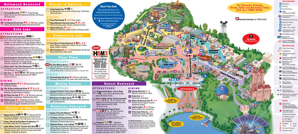 Mapa Disney Hollywood Studios