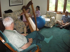 Sophia Playing the Harp