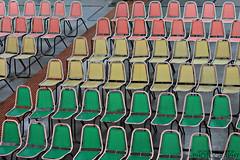Take a seat (Doc AP) Tags: yellow green red coral chairs rows places takeaseat india array seats arrangement place canon canon500d 500d canont1i t1i rebeleos rebel eos cogitateclick archanaprabhakar canoneosrebel500d canoneosrebelt1i canoneosrebel canonrebel