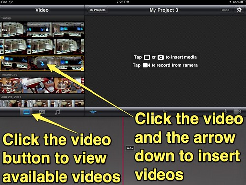2 (iMovie for iPad) - Insert video clips into your project