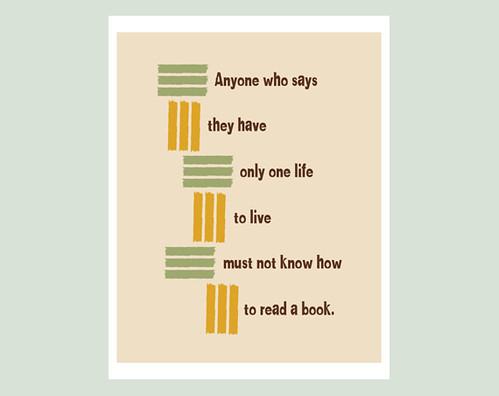 Book quote print